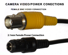 IMAGE: 2.1mm Power Connector & BNC Video Connector